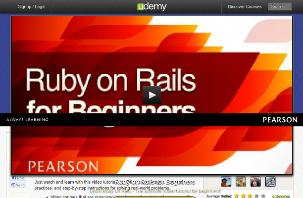 Ruby on Rails for Beginners (By Michael Hartl on Udemy.com)